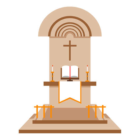 the altar: An altar to place holy bible on the church