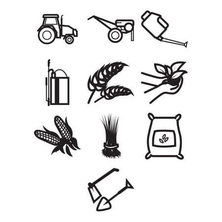 themed: A collection of agricultural themed icon