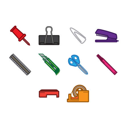 tape marker: A collection of utility icon