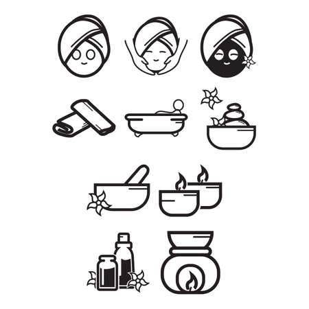 hot stones: A collection of spa and beauty themed icon