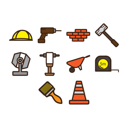 lenght: Construction icon set