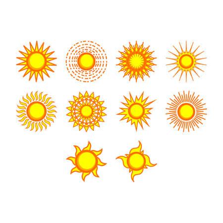 słońce: Sun icon set