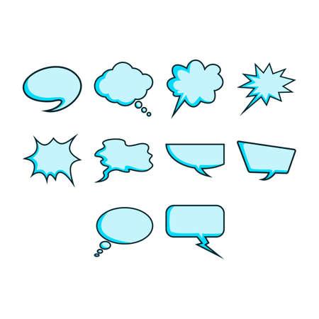 word bubble: Word bubble icon set