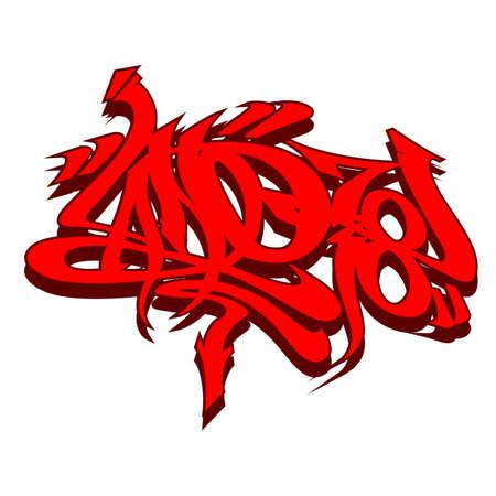 tagging: Graffiti tagging Illustration