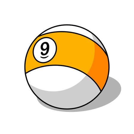 pool ball: Pool ball number 9