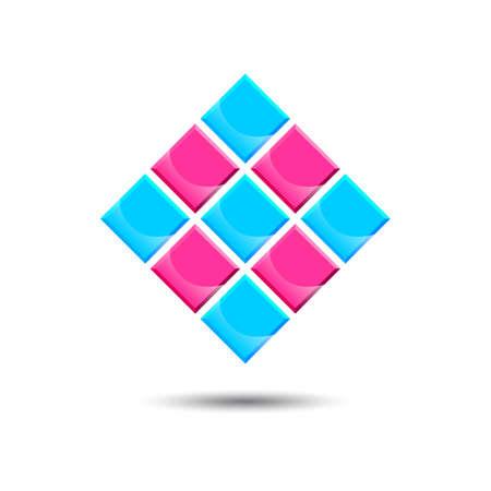 shinny: Shinny diamond logo Illustration
