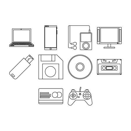 flashdisk: Technology icon set