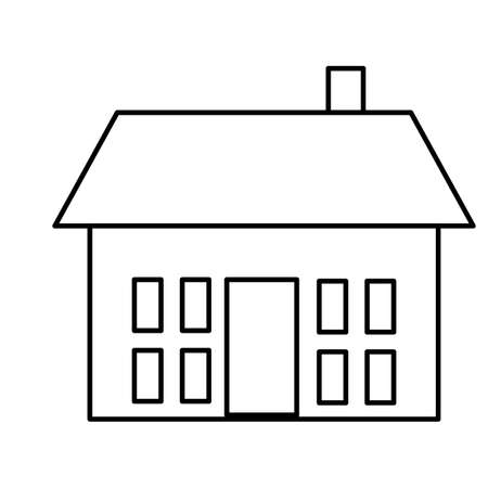 real state: Simple house real state icon.