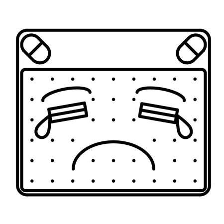deeply: Sad emoticon Illustration