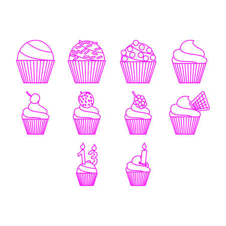 thirteen: Cupcake icon set