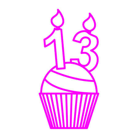 thirteen: cupcake with thirteen candle