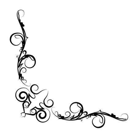 simple border: simple thin line artistic border 1 icon Illustration