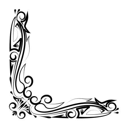 simple border: simple thin line  artistic border 7 icon