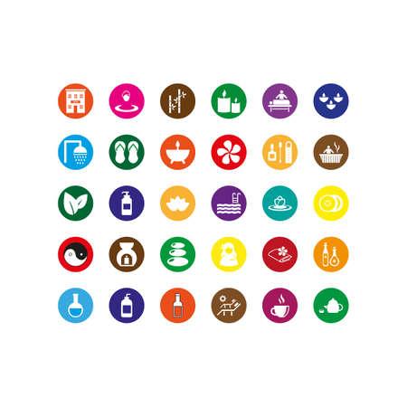 collectie van spa iconen vector Stock Illustratie