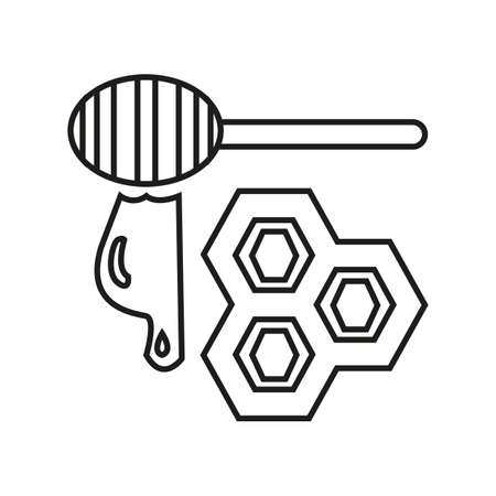 Simple thin line honey icon vector.
