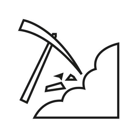 Simple thin line mine icon vector