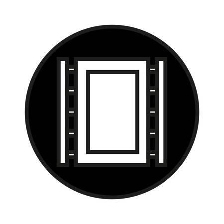 cliche: Simple flat black photo cliche icon vector