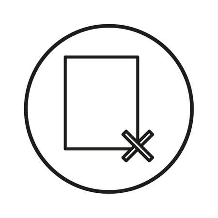incorrect: Simple thin line wrong file sign icon vector