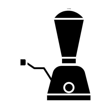 Simple flat black blender icon