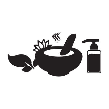 Simple flat black message ingredients icon vector