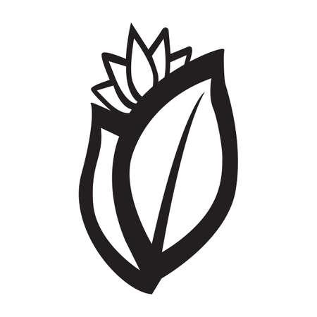 Simple flat black spices icon vector Ilustração