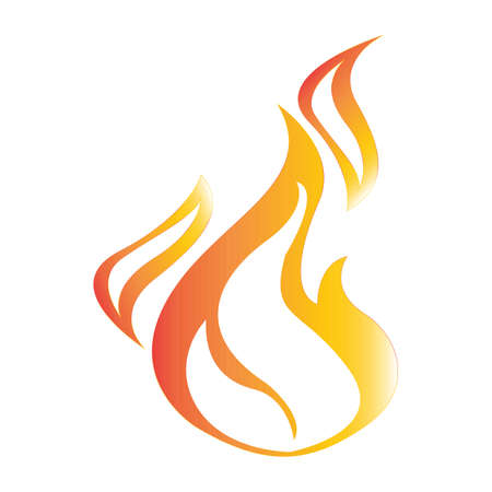 Simple flat color fire icon vector Illustration