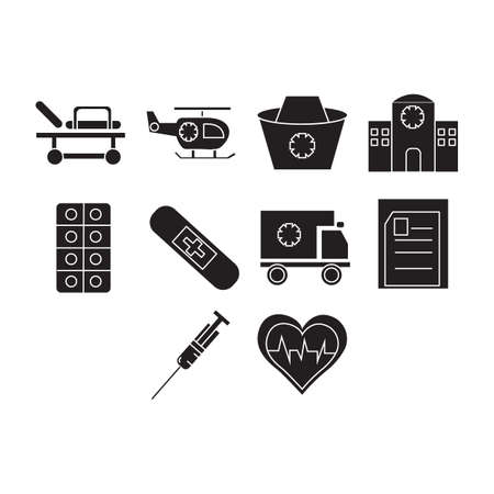 Collection of medical icon vector