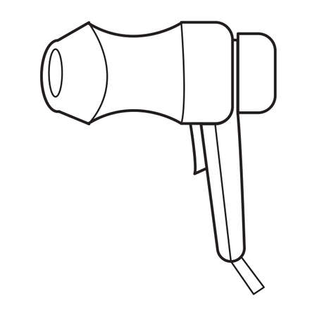 hairdryer: Simple thin line hairdryer icon vector