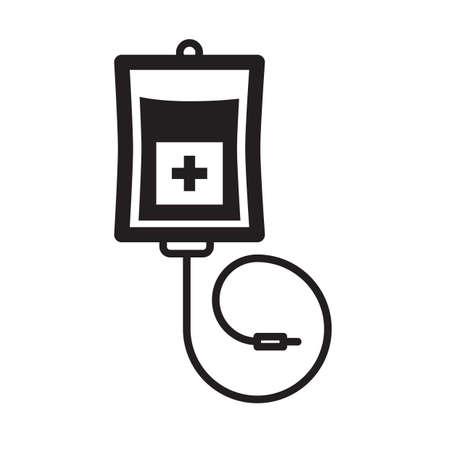 Eenvoudige dunne lijn infusie pictogram vector Stock Illustratie