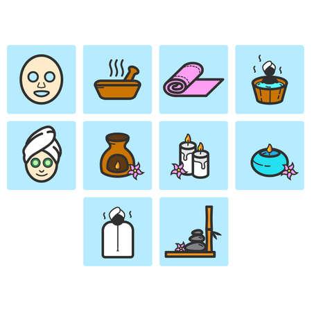Verzameling van spa pictogram vector Stockfoto - 78712614