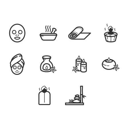 Verzameling van spa pictogram vector Stockfoto - 78712726