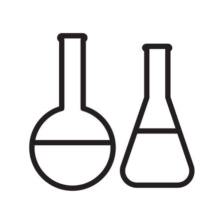 Simple thin line flask icon vector 向量圖像