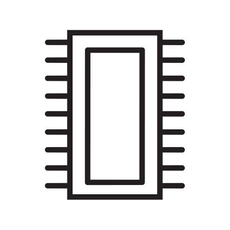 ic: Simple thin line ic icon vector