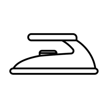 Simple thin line ironing icon vector Ilustrace