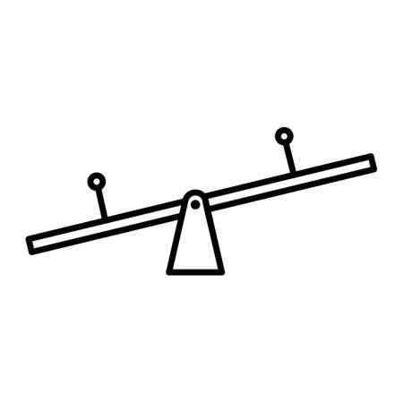 Ligne fine simple voir vecteur icône de scie