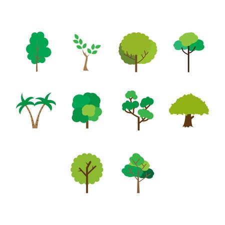 Collection d'arbre icône illustration vectorielle Banque d'images - 82515219