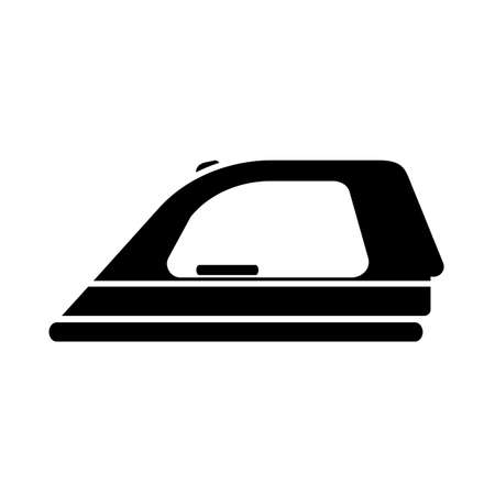 Simple flat black ironing icon vector