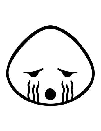 Simple thin line cry icon vector