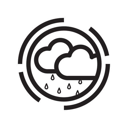 Simple thin line rainy icon vector illustration.
