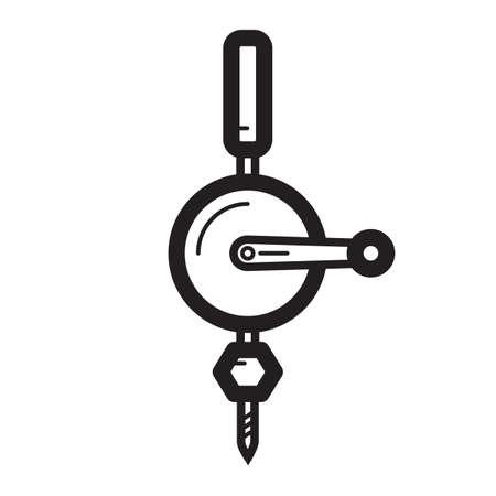 Simple thin line hoist icon vector