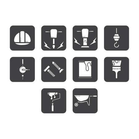 Verzameling van bouw pictogram vector
