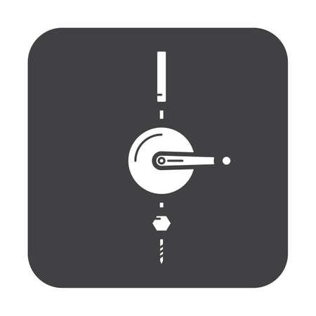 Eenvoudige platte kleur hoist pictogram vector Stock Illustratie