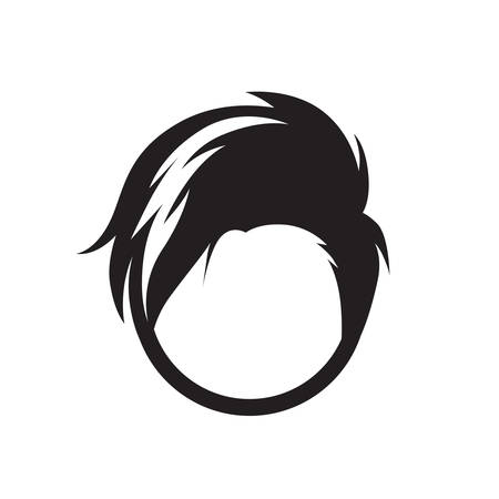 Simple thin line hairstyle icon vector