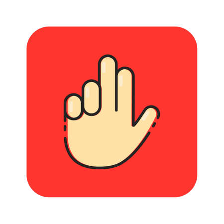Simple flat hand icon vector 向量圖像