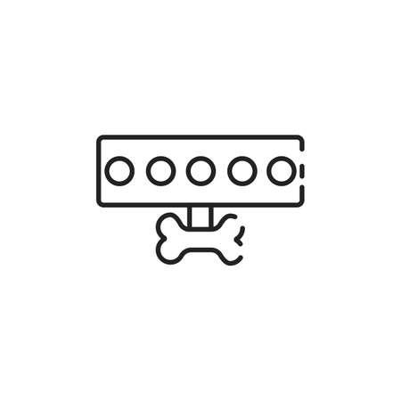 Simple thin line dog leash icon vector