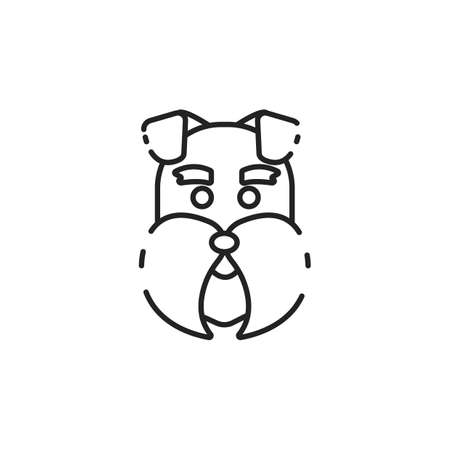 Simple thin line dog head icon vector Illustration