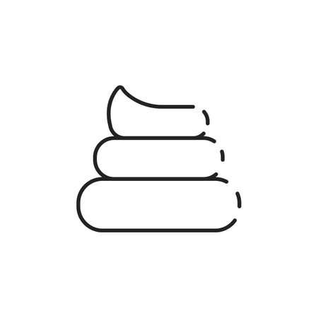 Simple thin line dog poop icon vector