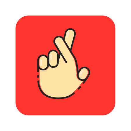 Simple flat color hand icon vector Ilustração