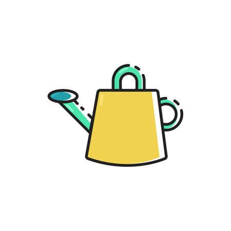 Simple flat color watering can icon vector Ilustração