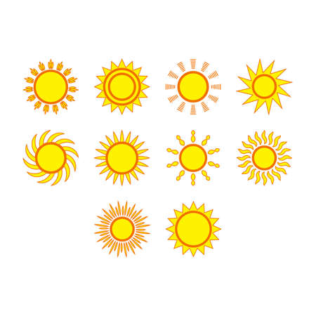 Collection of sol icon vector